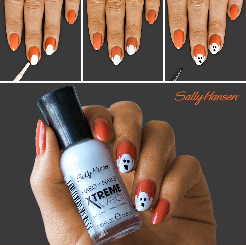 Create Halloween Nail Art In 3 Easy Steps In 2020 Halloween Nails Halloween Nails Easy Halloween Nail Designs