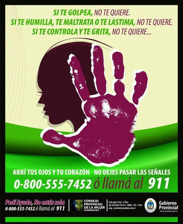 Mes de la No Violencia contra la Mujer #ArribaCorrientes