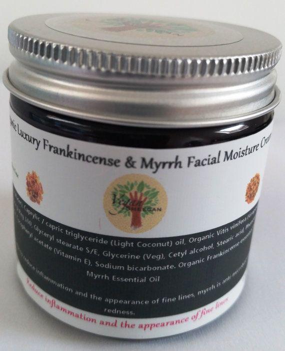 Organic Luxury Frankincense & Myrrh Facial Moisture Cream - 60ml