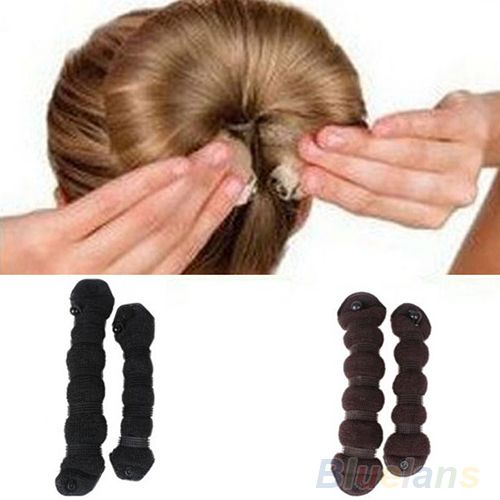 Aliexpress Com Buy 2pcs Set Fashion Hair Styling Elegant Magic Style Bun Maker Hairstyle Updo Diy Styling To Bun Maker Hairstyles Stylish Hair Hair Bun Maker