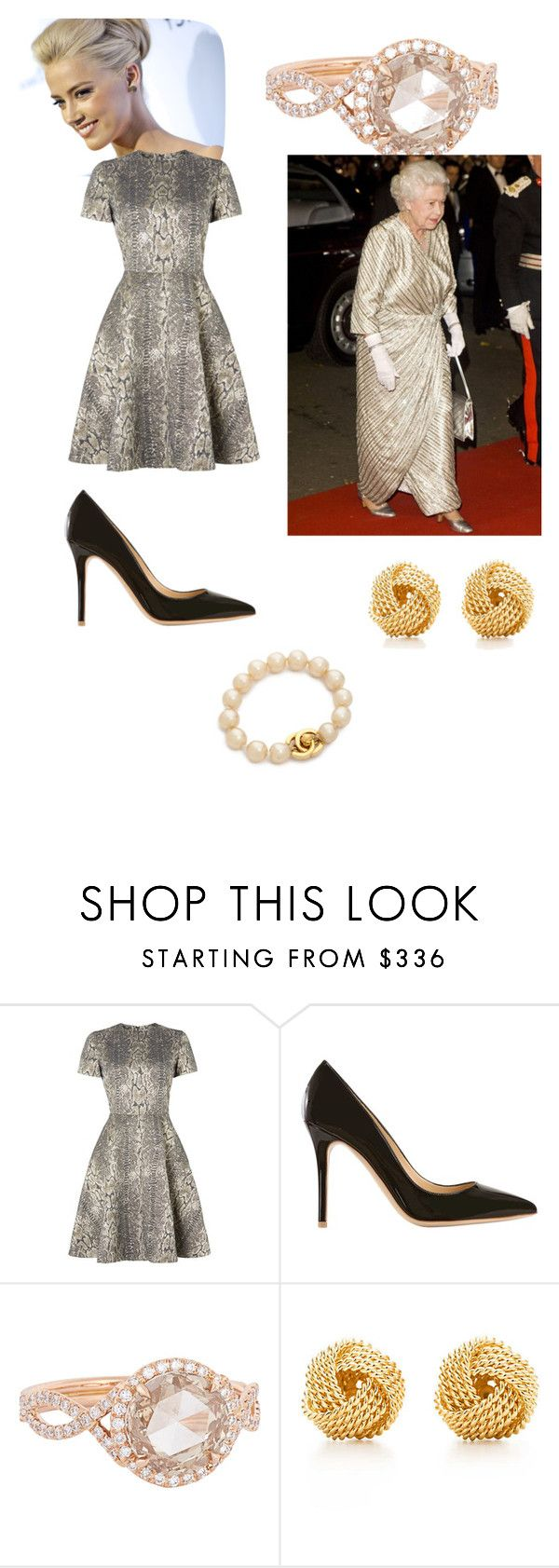"""""""Attending the Dramatic Arts Reception with the Queen"""" by emiliaduchessofcambridge ❤ liked on Polyvore featuring Alice by Temperley, Semilla, Monique Péan and Tiffany & Co."""