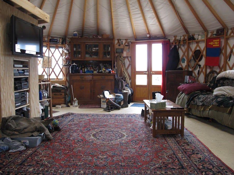 Yurt interior 2 pinterest yurt interior for Yurt interior designs