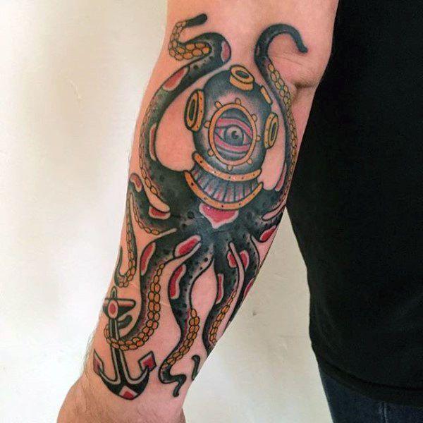 Photo of 50 traditionelle Octopus Tattoo Designs für Männer – Old School Ideas ,  #Designs #für #Ideas…