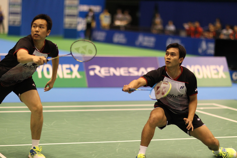 Doubles players Hendra Setiawan NANORAY 800 & Mohammad Ahsan