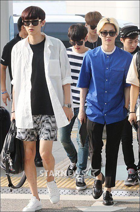 140727- EXO Park Chanyeol & Suho (Kim Joonmyun) @ Incheon Airport to…