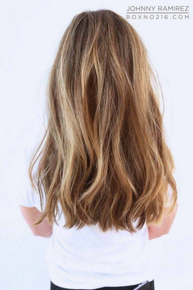 Medium Long Hairstyles Non Layered Gaya Rambut Rambut