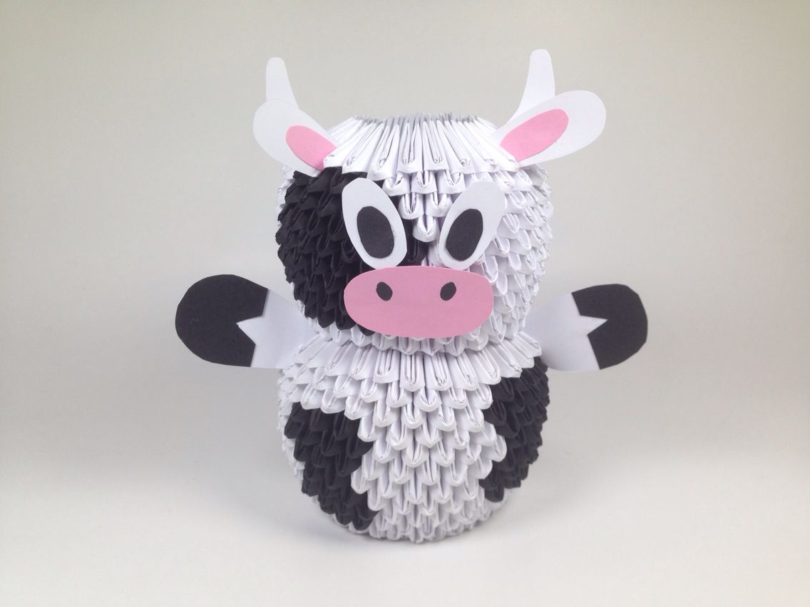 3D Origami Cow