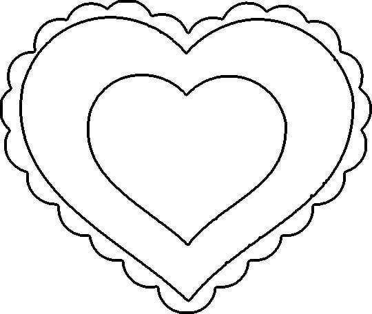 9 heart tastic crafts for kids coloring pages for teenagersheart templatevalentine day