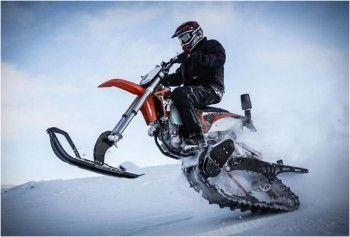 DIRT BIKE SNOW KIT - http://www.gadgets-magazine.com/dirt-bike-snow-kit/