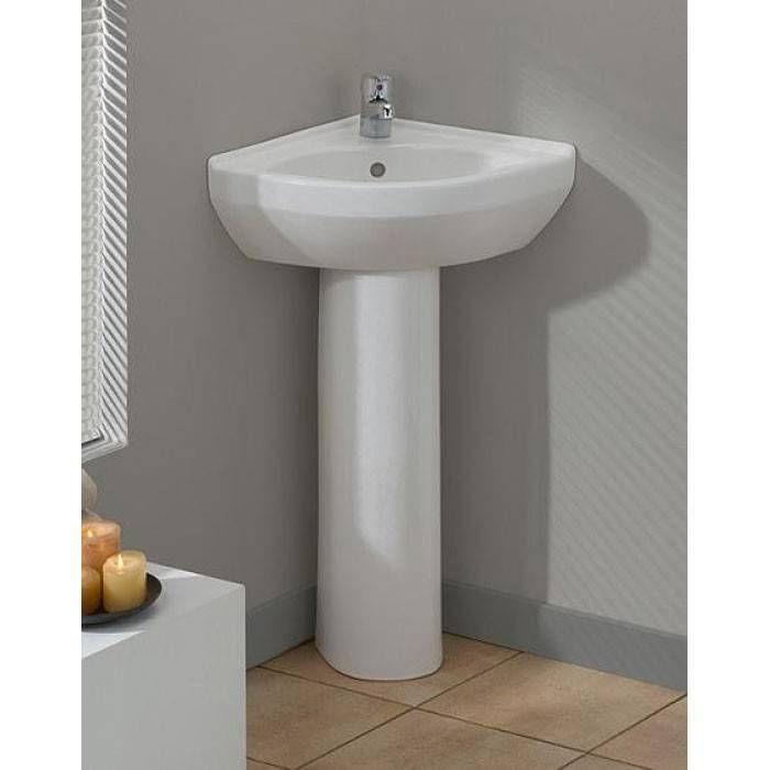 Petite Corner Pedestal Lavatory Sink Corner Pedestal Sink