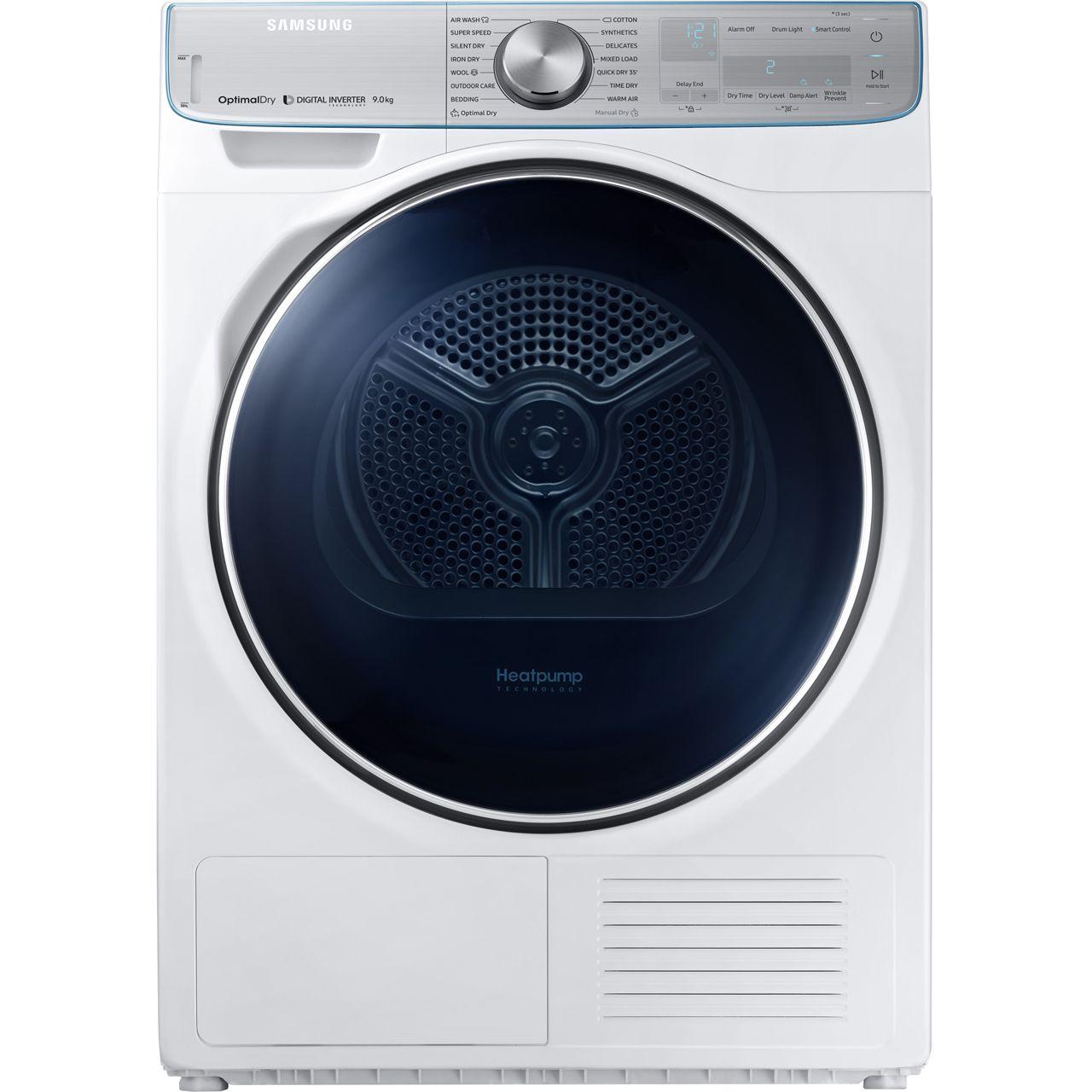 Dv90n8289aw Wh Samsung Heat Pump Tumble Dryer In 2020 Heat Pump Tumble Dryers Clothes Dryer