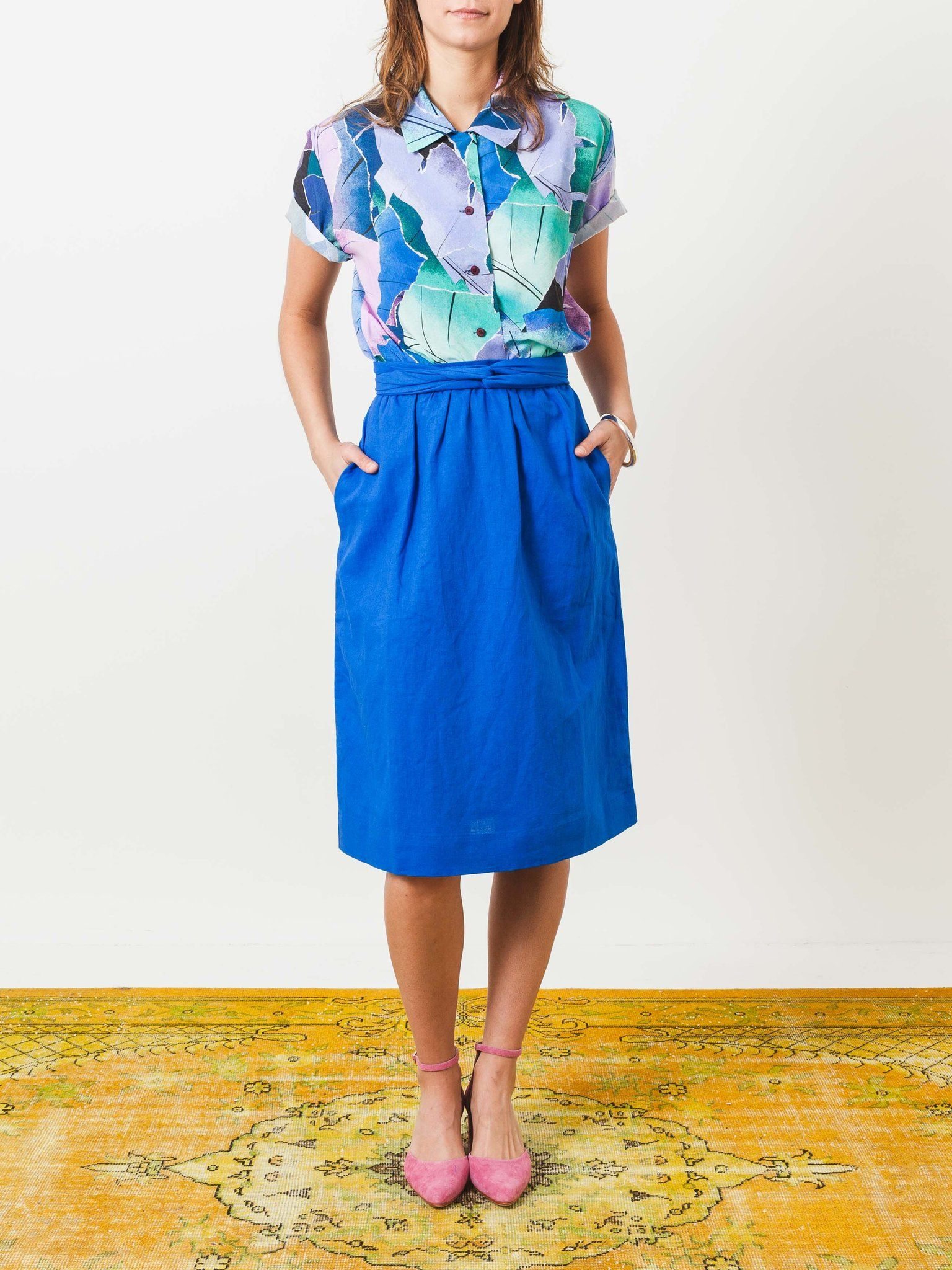 55b43e1021 rachel-antonoff-blue-toby-peg-skirt-on-body | Fashion likes | Skirts ...