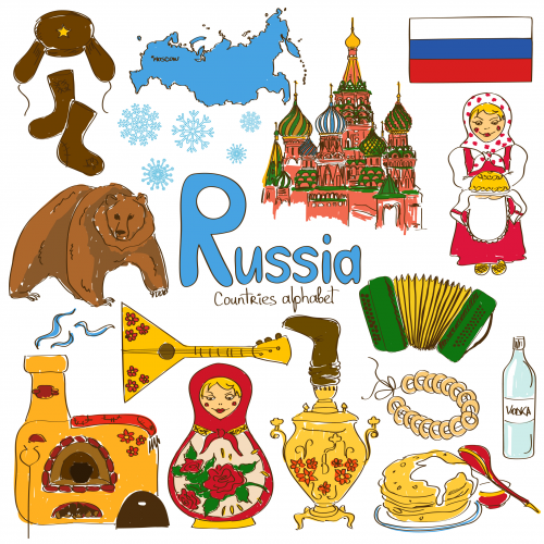 Map Of Russia For Kids.Russia Culture Map Printable Geography Russia Culture Geography
