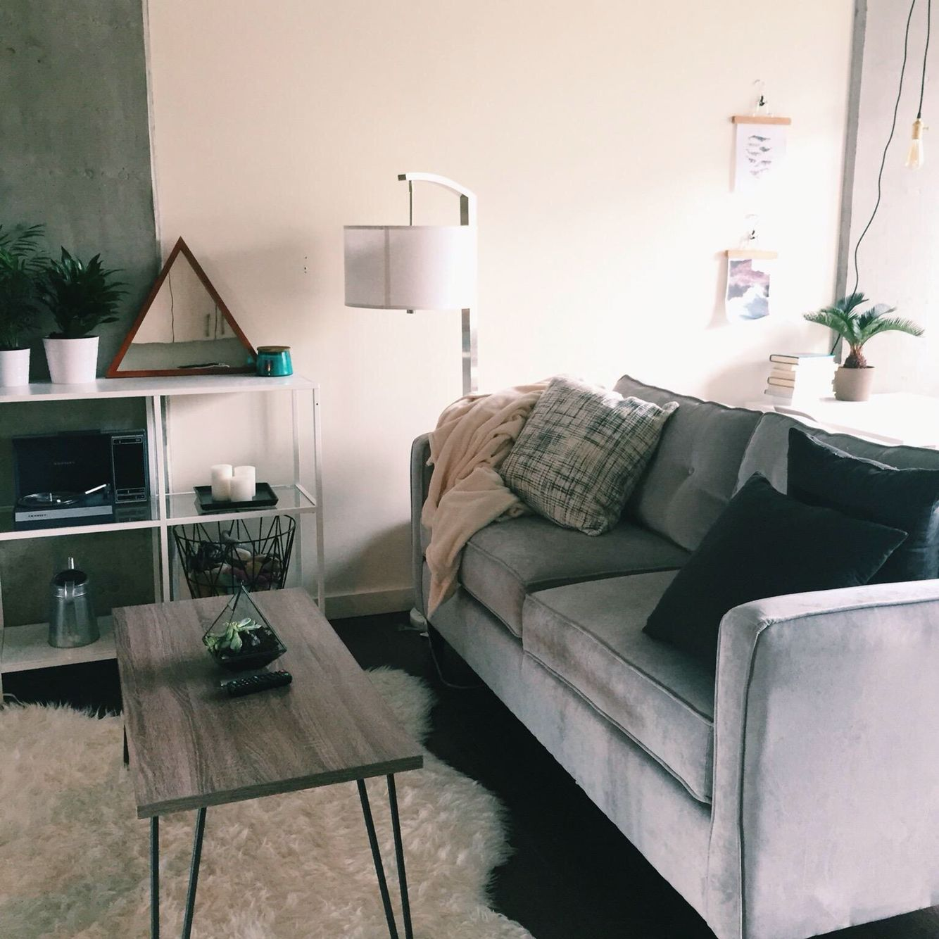 Studio Apartment Living Room: Couch & Coffee Table: Wayfair