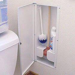 Great idea for hidden bathroom storage!