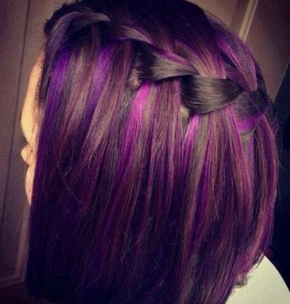 Hair Color Ideas For Brunettes Funky With Highlights For Blue Green Hazel Eyes Brunette Hair Color Ideas Hair Styles Brunette Hair Color Cool Hairstyles
