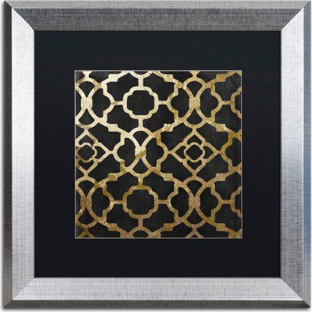 Trademark Fine Art Moroccan Gold IV Canvas Art by Color Bakery, Black Matte, Silver Frame, Size: 16 x 16