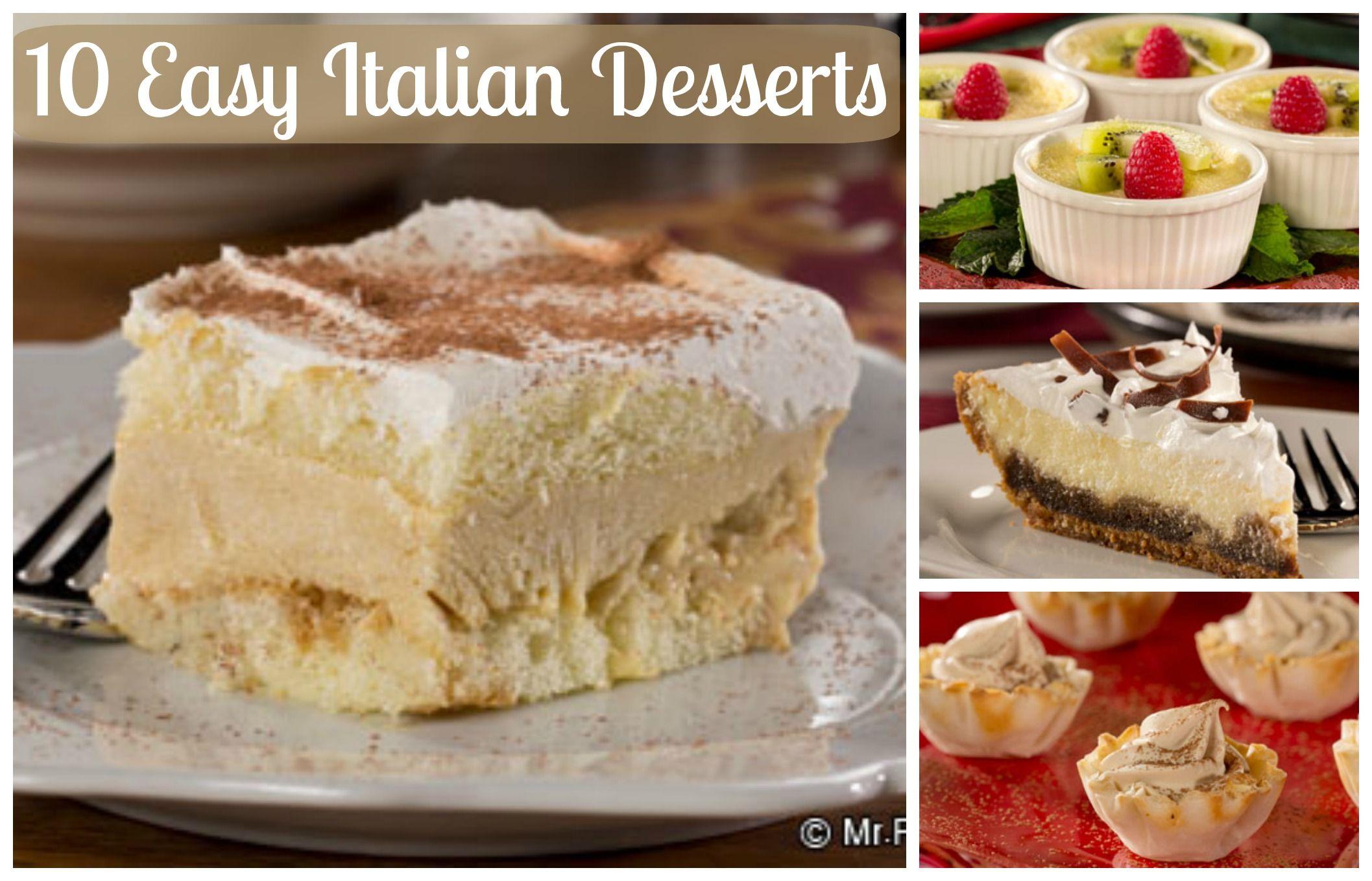 10 Easy Italian Desserts Diabetes Friendly Italian Dessert Recipes Italian Desserts Easy Italian Desserts Desserts