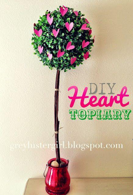 grey luster girl: DIY Heart Topiary Tutorial