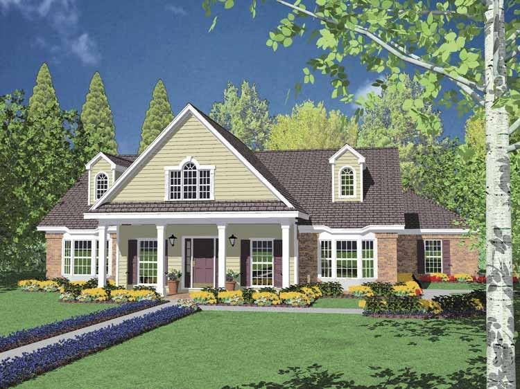 Traditional Style House Plan 3 Beds 2 5 Baths 2537 Sq Ft Plan 36 218 House Plans Country Style House Plans Country House Plan