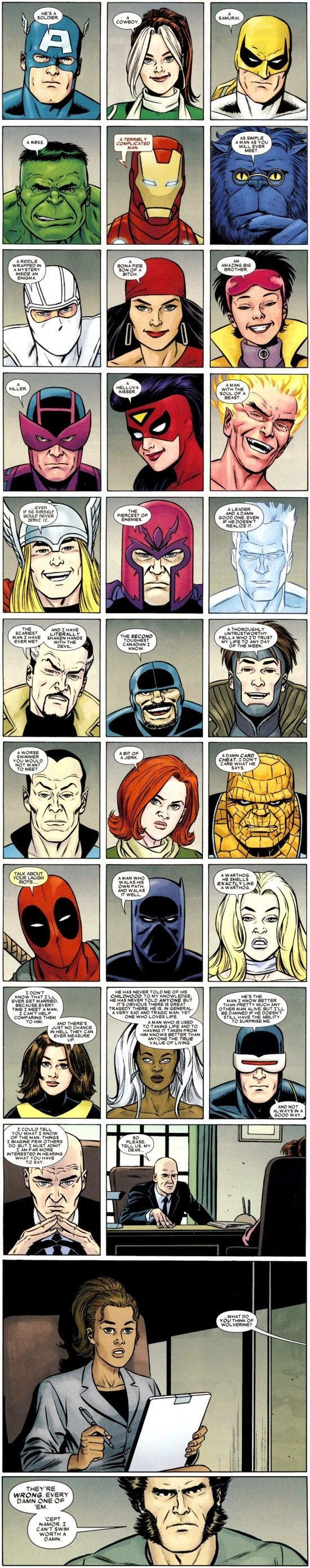 What Marvel Superheroes Think About Wolverine Comics Marvel Superheroes Marvel Characters