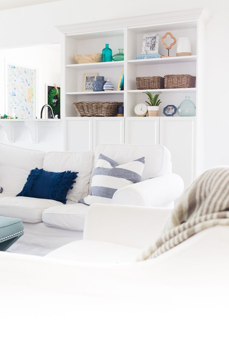 Customized IKEA Billy Bookcases - DIY Built In Bookshelves ...