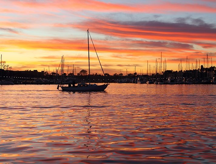 Sunset On The Marina Del Rey Waterfront Marina Del Rey Sunset Places To Travel
