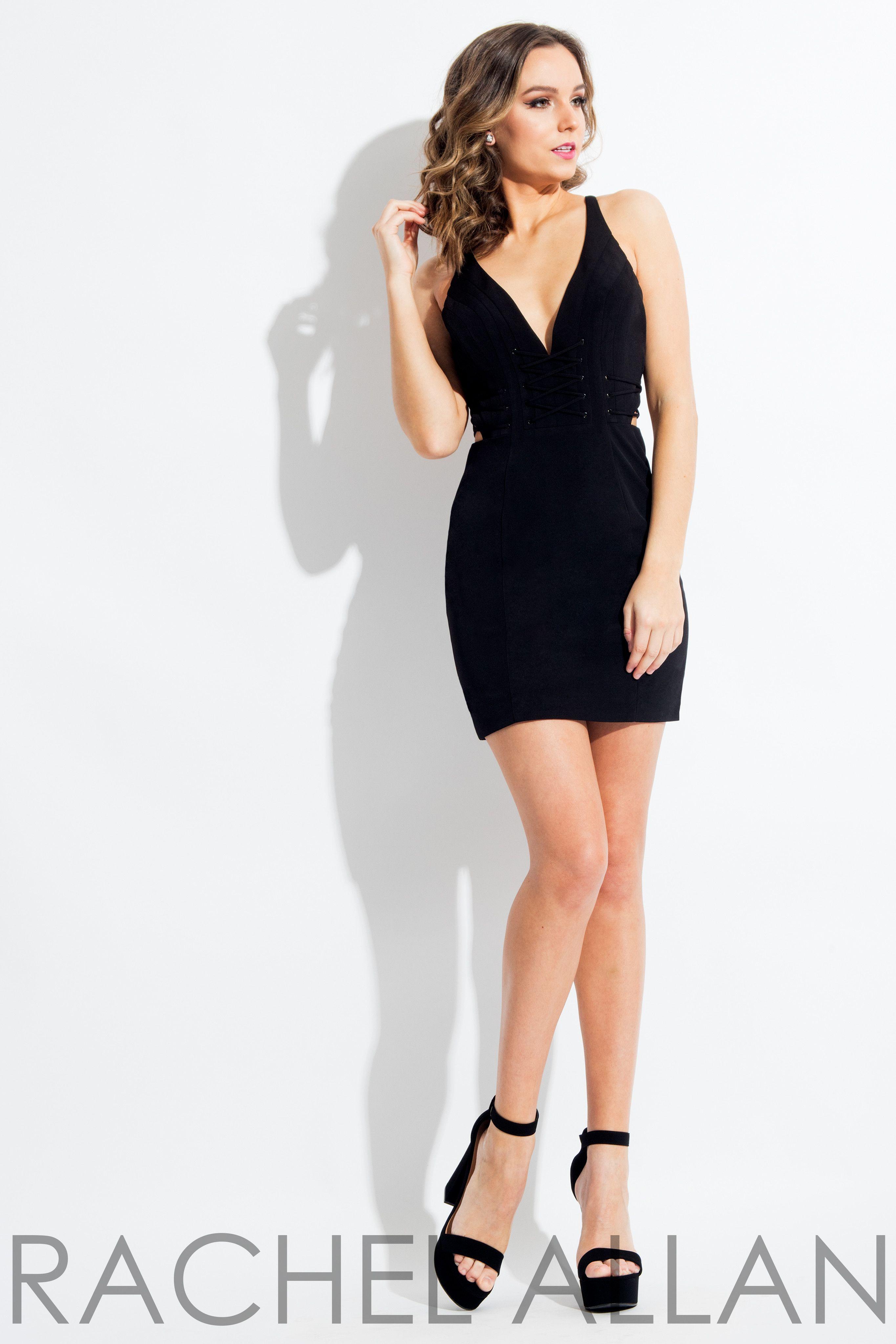 Black Matte Satin Short Dress