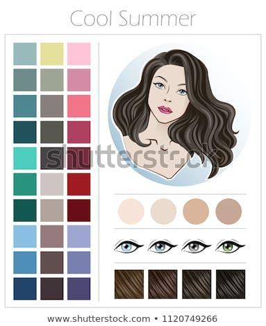 Cool Summer Color Type Appearance Women Stock-Vektorgrafik (Lizenzfrei) 1120749266