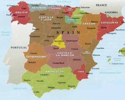 Map Of Spain Catalonia.Spanish Villas Elegant Spanish Villas Areas In Spain Catalonia