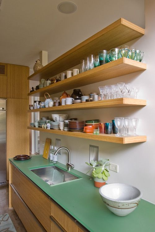 open kitchen cabinets Open Shelves Cabinet  Low Cost Kitchen