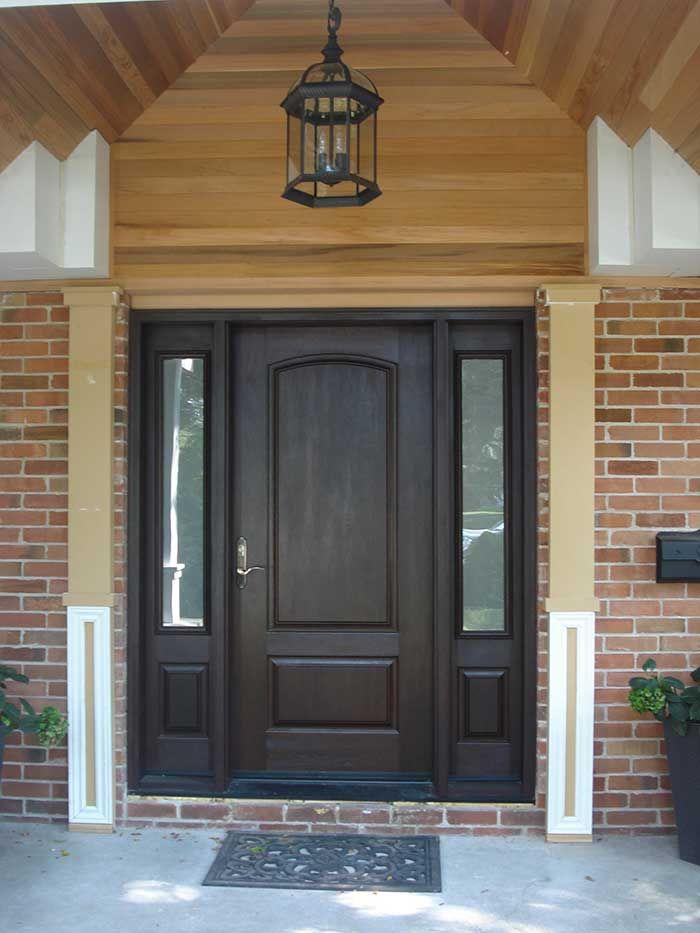 Wood Grain Fibergl Exterior Doors