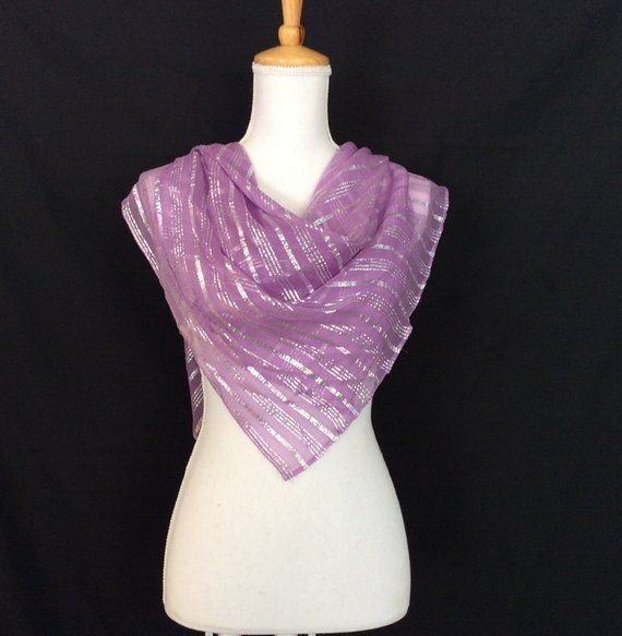 Lovely Lavender scarf, Wisteria Scarf silk, Gift idea for girlfriend, Birthday Gift idea for Mother in Law, Amethyst Scarf, Silver Lavender