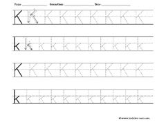letter k worksheet