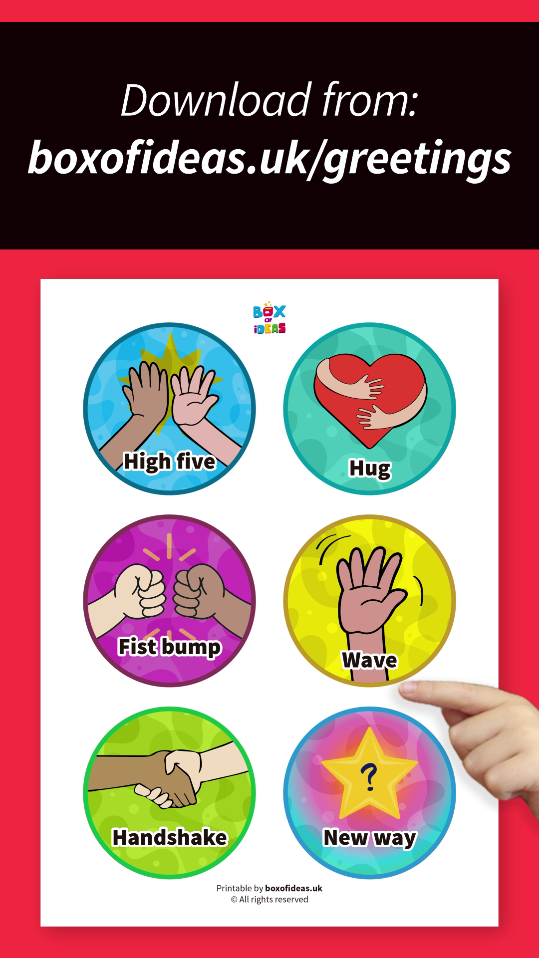 Morning Greeting Choices for Preschool Classroom: Free Printable Chart #preschoolclassroomsetup