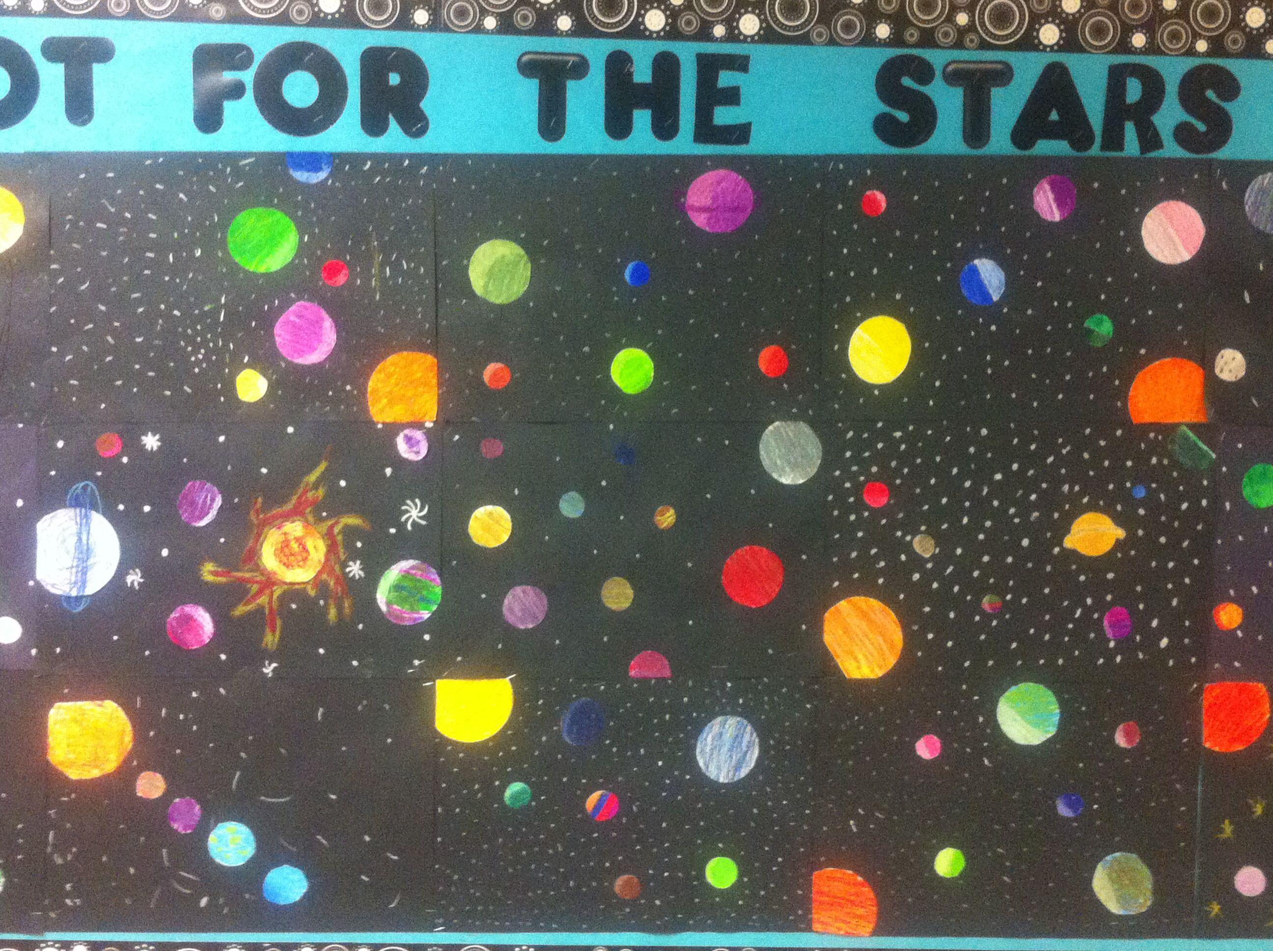 Planet Solar System Art Project Chalk Pastel On Black