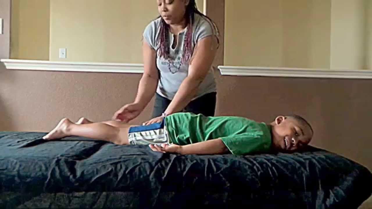 Pediatric Massage Tips  Kids fall asleep  Peace therapy  | Massage