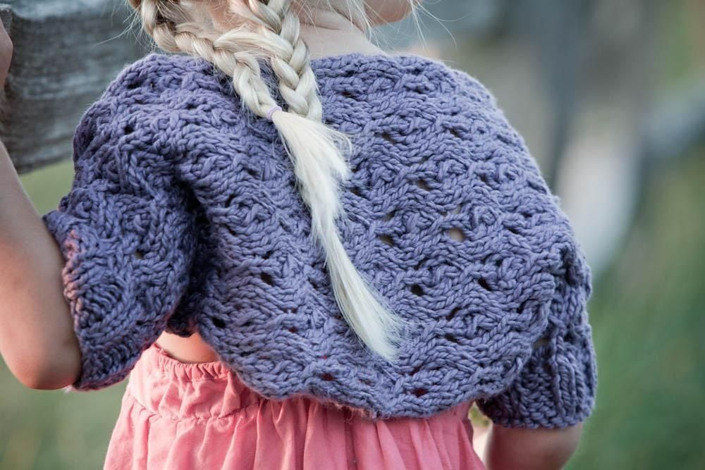 Rosalyn (a girl's shrug) Knitting pattern by Sara Gresbach ...