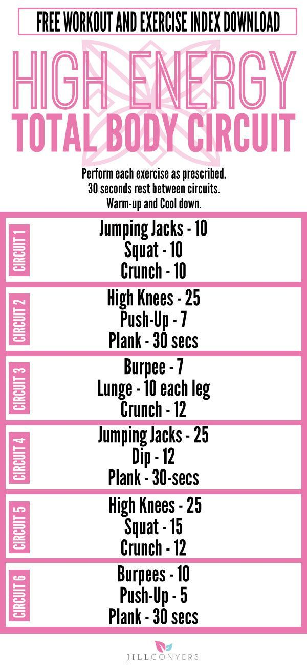 High Energy Total Body Circuit Workout - Jill Conyers