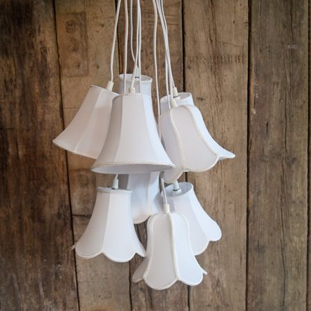 Check Out This Modern Twist On Classic White Shade Styles All Grouped  Together In This Wonderful 9 Cluster Pendant Light.