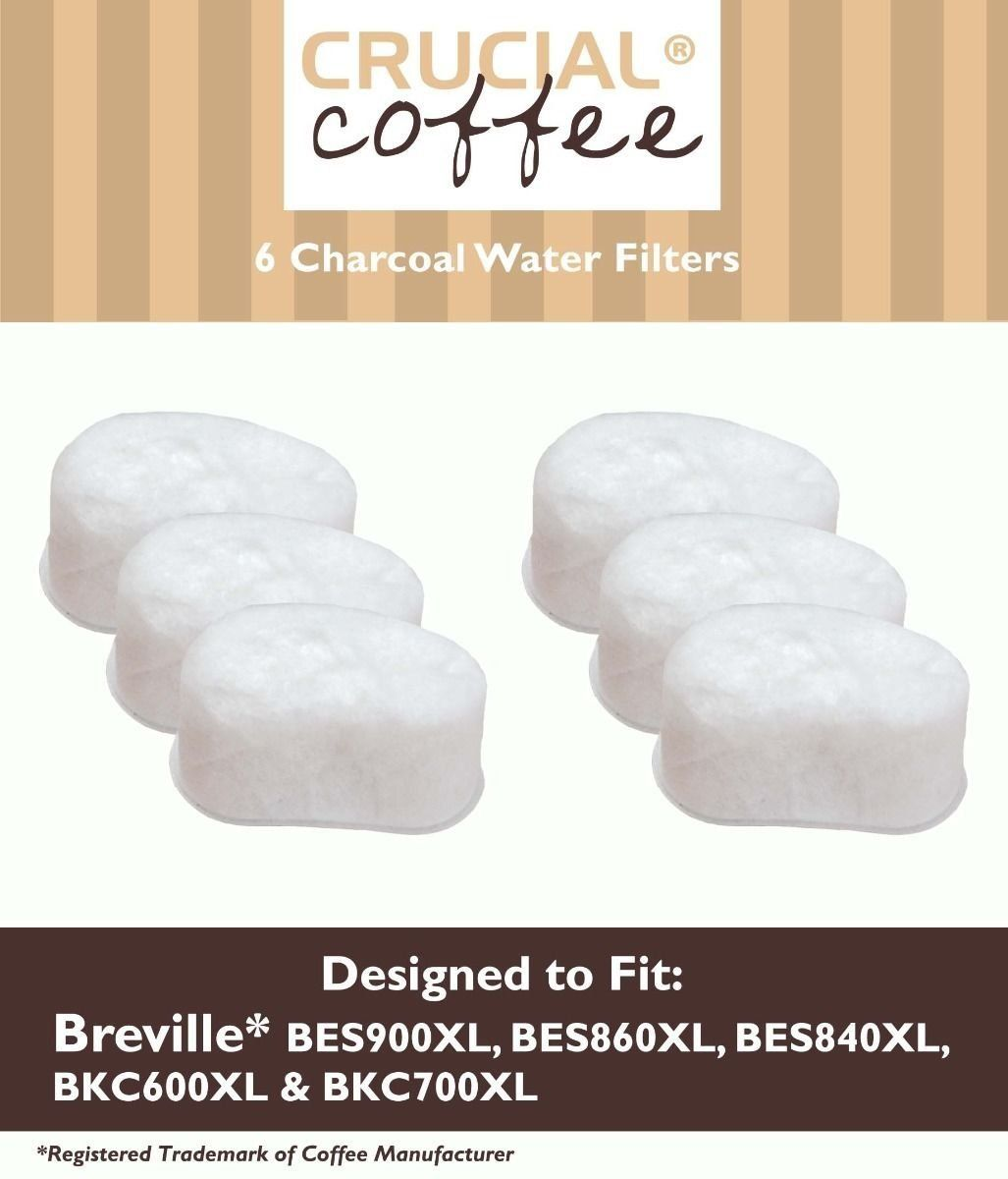 Breville Charcoal Water Filters High Quality 6 Pcs Pack