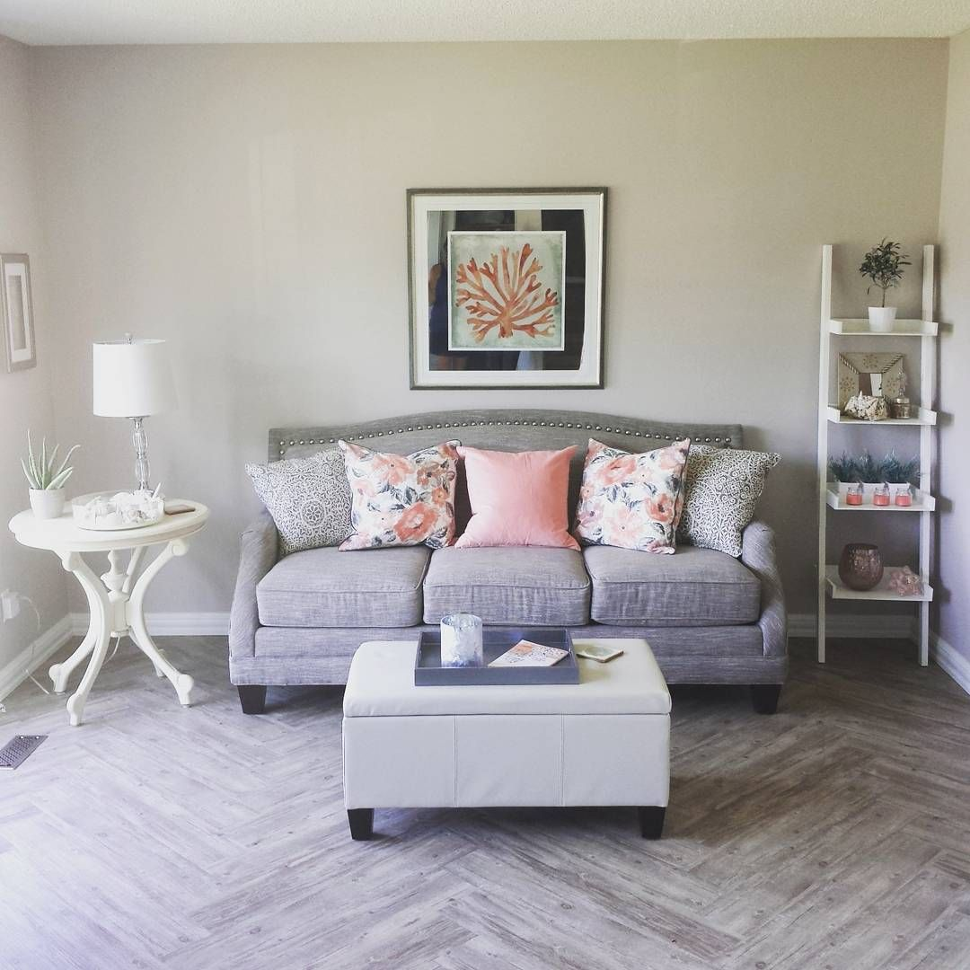 Diy shabby chic home decor - Diy Shabby Chic Herringbone Luxury Vinyl Plank Flooring
