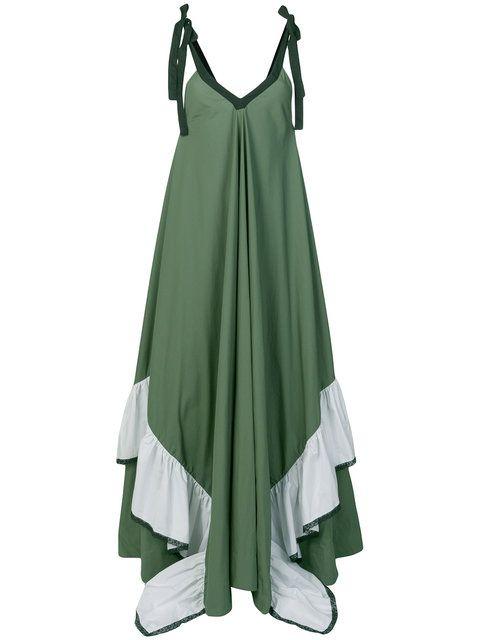 long ruffle dress - Green Milla Milla 5Z2zhp4