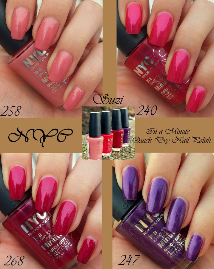 NYC In a New York Color Minute Quick Dry Nail Polish | Art&beauty ...