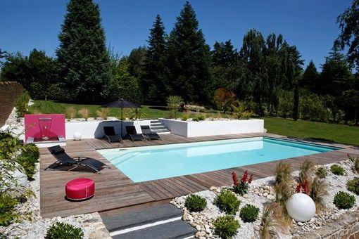 piscine #beton #escalierexterieur #Caron #pots #plage #galets | Ma ...