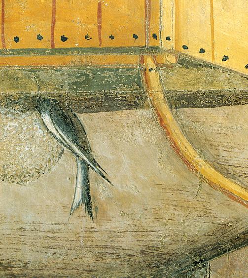 Ambrogio Lorenzetti - Un nido di rondine (Gli Effetti del Buono Governo in città) - affresco - 1338-1339 - Siena - Palazzo Pubblico, Sala dei Nove o Sala della Pace