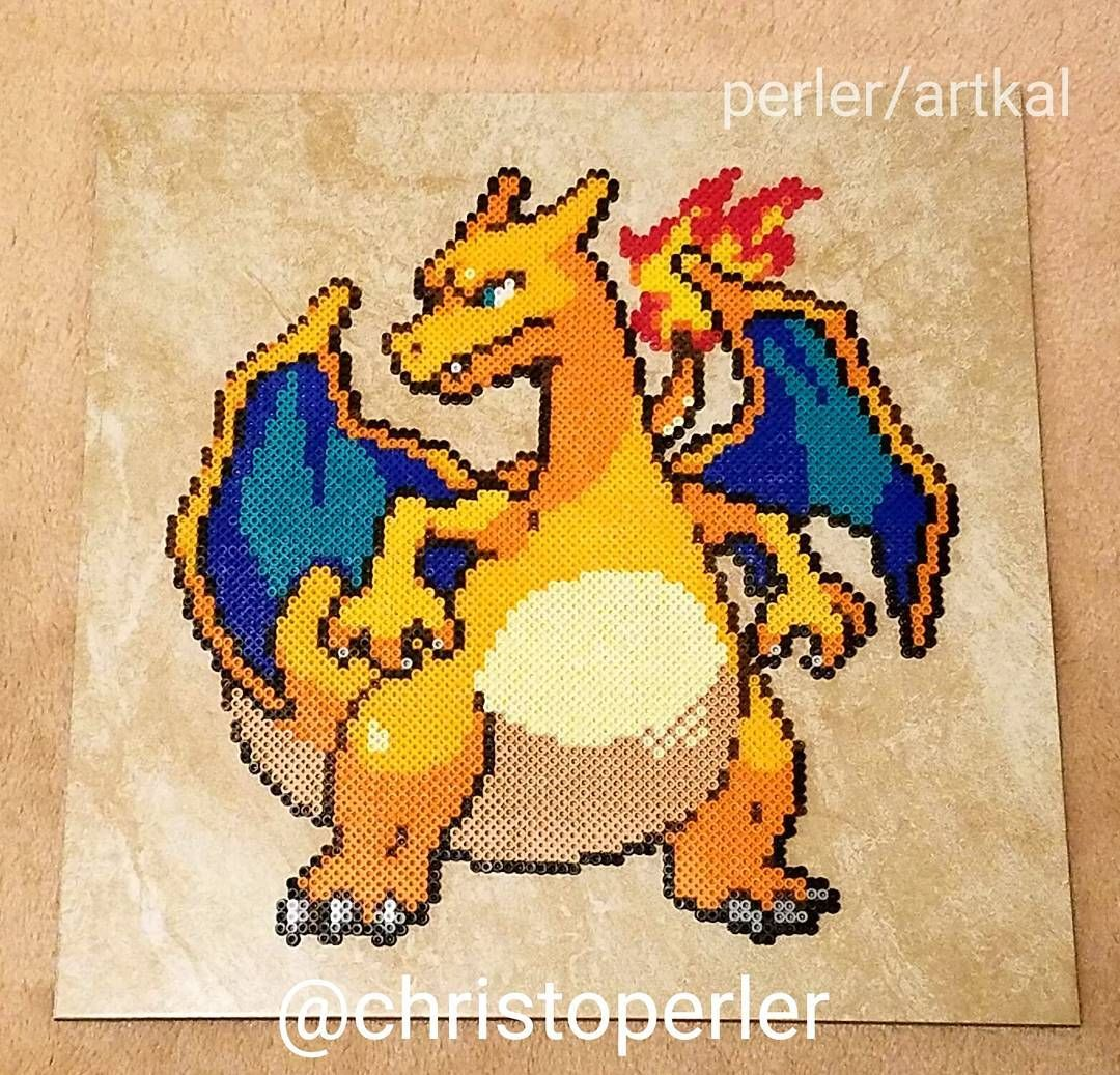 Charizard perler fuse beads by christoperler