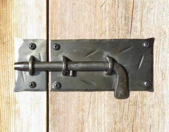 Slide Bolt Door Latch Hand Forged Cabinet Catch Barn Gate Etsy In 2020 Door Latch Barn Door Locks Blacksmithing
