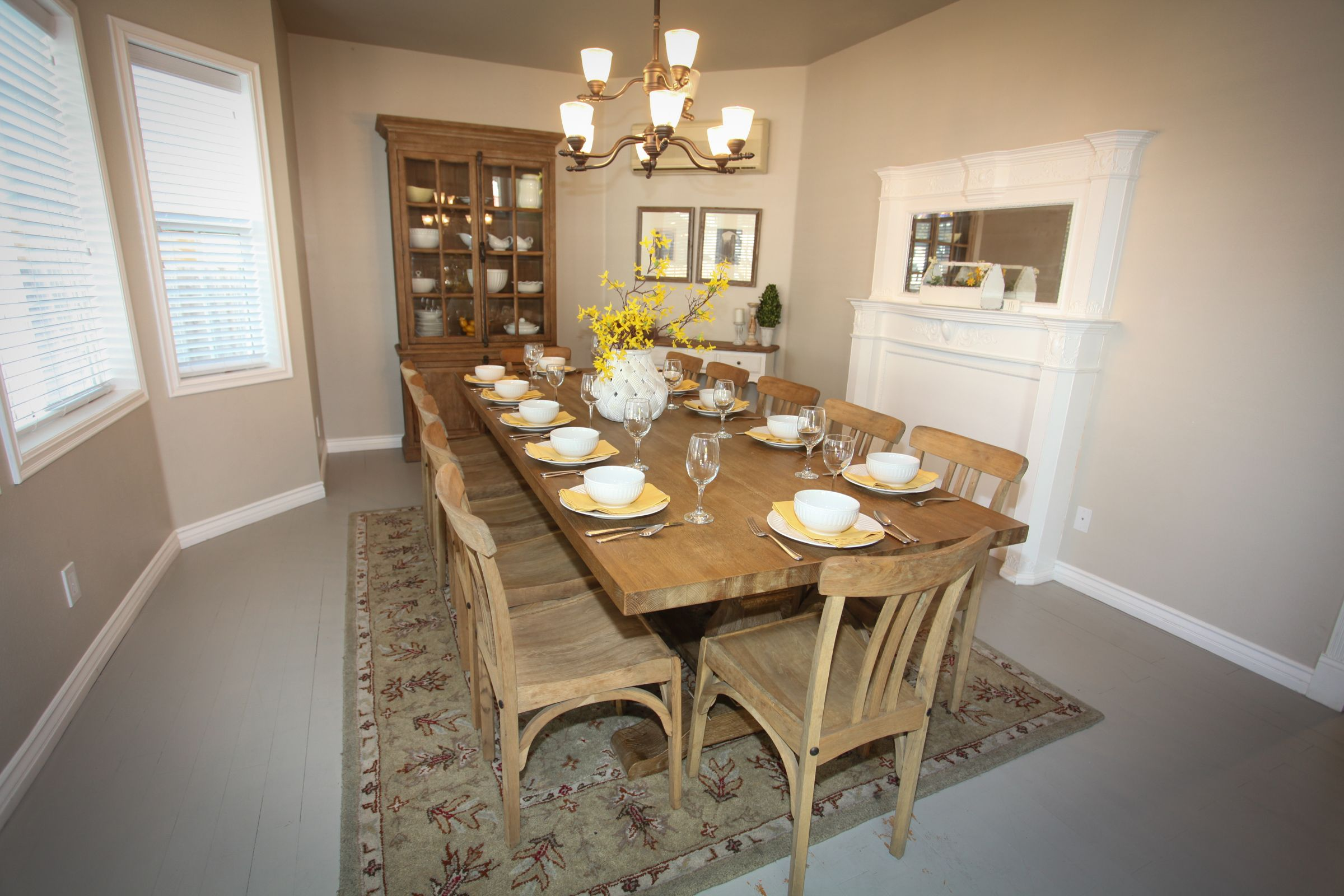 This large dining room is next to the kitchen. Table seats ...
