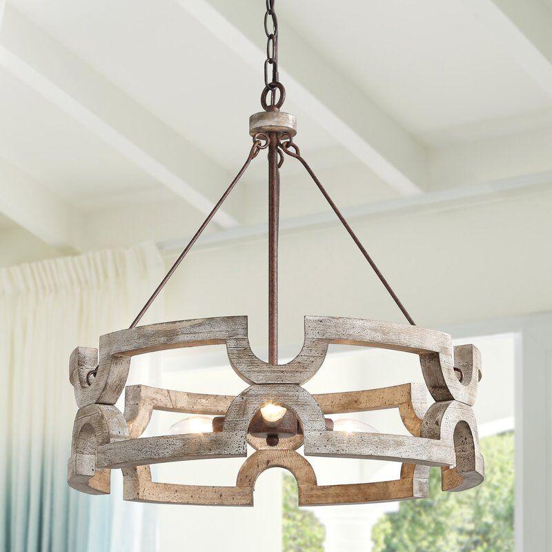 wood chandelier farmhouse style lighting